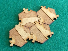 Palago Tile, Interlocking, Laser Cut