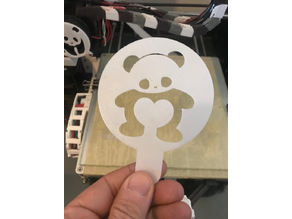 Panda Coffee-Cake Heart stencil