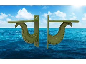 Octopus Tentacle Shelf Bracket - Steampunk