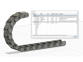 Parameterized Cable Chain (height, width, bend radius)