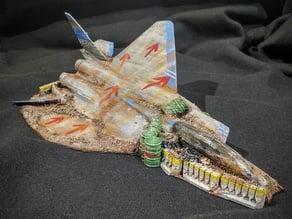 Crashed F15 ramp Gaslands