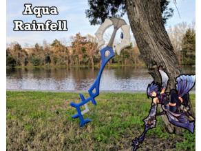 Rainfell Keyblade (Aqua's Keyblade) - Kingdom Hearts Birth By Sleep
