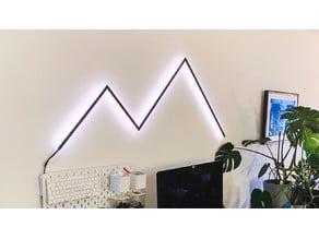 RGB LED light sculpture frame connectors for aluminium profile