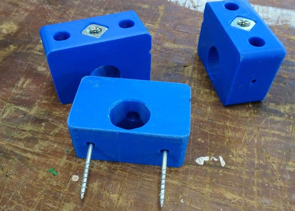 PrintNC - Waste Board Securement - Nut Blocks