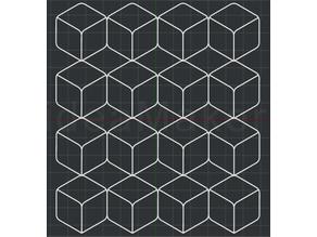 Radius Cube Pattern - 2D Wall Art