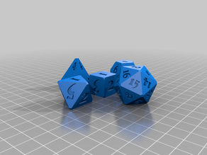 Font-Customizable Polyhedral Dice