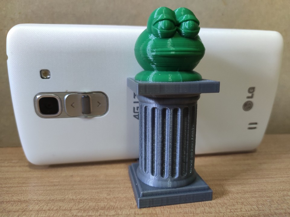 Phone Stand - Frog Bust on Pedestal (remix)