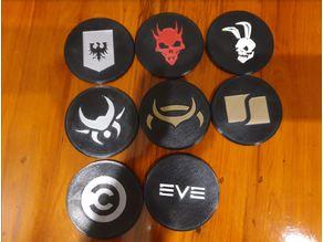 Eve Online - NPC Corp Coasters