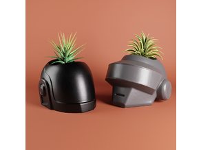 Daft Punk plant pot