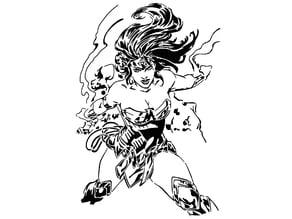 Wonder Woman stencil 9