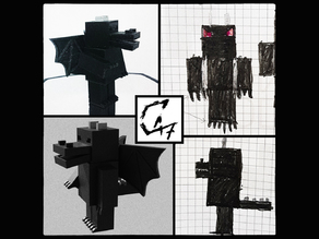 Minecraft Dragon-Man - Kids world figurine
