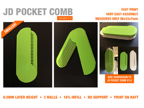 JD FOLDABLE POCKET COMB v2