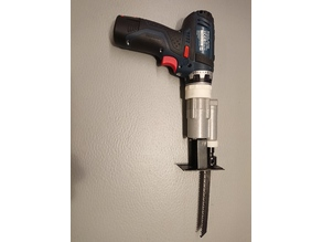 Saw adapter for Bosch FlexiClick cordless drill