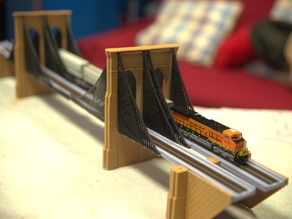 N-Scale Brooklyn Bridge
