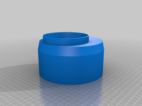 """Laser Cutter Exhaust Adapter - 4"""" to 6"""" with Offset"""