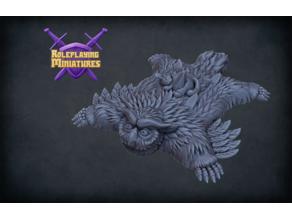 Owlbear skin rug