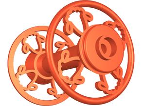 Electric Eel Wheel Nano bobbin with sheep head embellishment