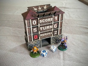 Fantasy Football Score Keeper and Dice Tower