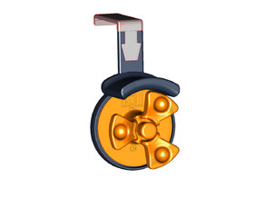 Headphone Holder with Cable Management Spool for Haworth Compose Cubicles - VERSION 2