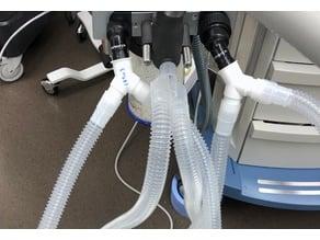 LRTee: Last Resort 22mm Ventilator Tubing Splitter