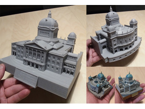 Federal Palace of Switzerland - Bundeshaus (easy to print)