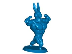 Ultra Swole Rabbit Bunny Bodybuilder