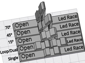 Minimalist suports for Open Led Race