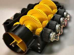 Gearbox for 8 motors