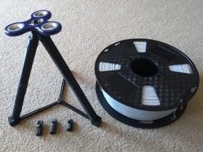 Large filament holder using fidget spinner