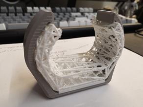 2-Part Wrist support for mouse use