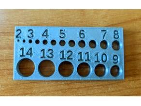Hole gauge for 3D design