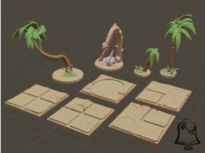 Desert Terrain Tile Set