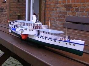 RC Boat,RC Ship, Raddampfer, Leipzig