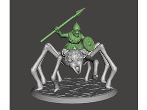 28mm - Orc / Goblin / Hobgoblin Riding Giant Spider