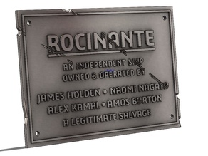 Rocinante Plaque - Expanse Season 4