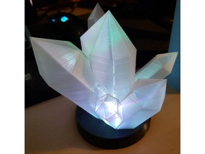 Glowing Crystal Lamp