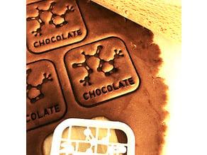 Chemistry Cookie Cutter - Chocolate Molecule