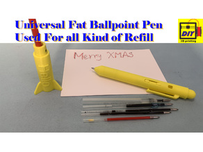 Universal fat ballpoint pen can use all kinds of refill