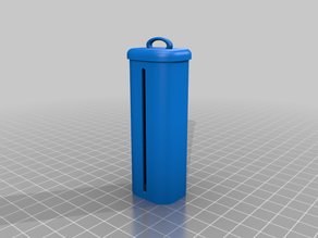 Retractable key case with key attachment