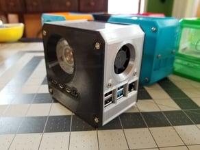 Raspberry Pi 4 Mini Desktop Case - Ice Tower Cooler + Secondary PCB Cooling Fan