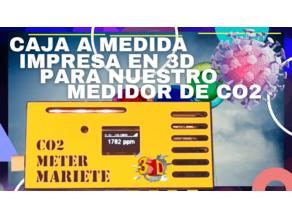 Caja impresa en 3D para el medidor de CO2 de eMariete con pantalla OLED SSD1306