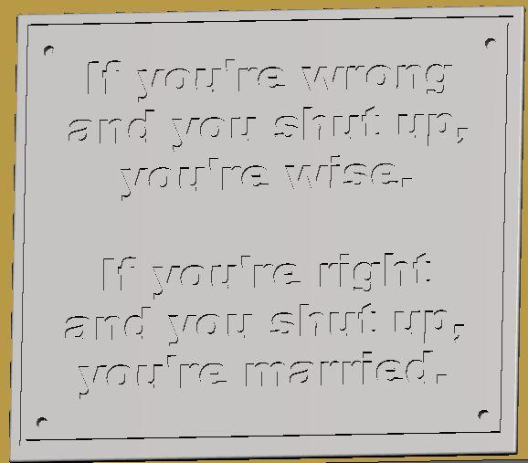 Married Plaque