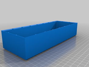 Halfsized Simple Container (Rasterized and Stackable) - Fullsize 92,5mm