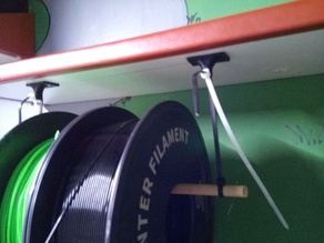 simply spool holder from clamps (or other wire) for shelf