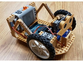 Arduino Uno and L298N Lego Car Chassis