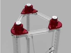 Belt tensioner / tightener for 2020 delta / Kossel 3D printer
