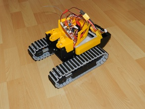 Crawler loader LR634 modified, part 1, the chassis