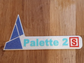 Palette 2S sign for Palette 2(S)