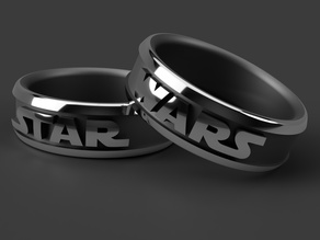 Star and Wars Ring diameter 15mm-30mm