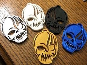 Tribal Skull - Keychain
